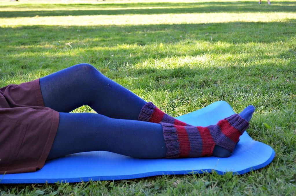 Knitted Striped Yoga Socks knitting pattern