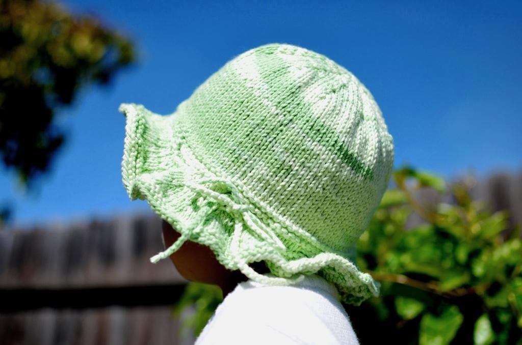Cotton Sun Hat knitting pattern