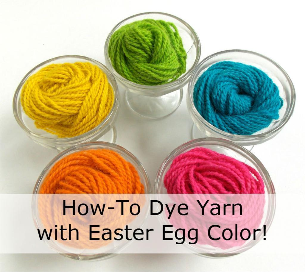 How-to Dye Yarn with Easter Egg Color!