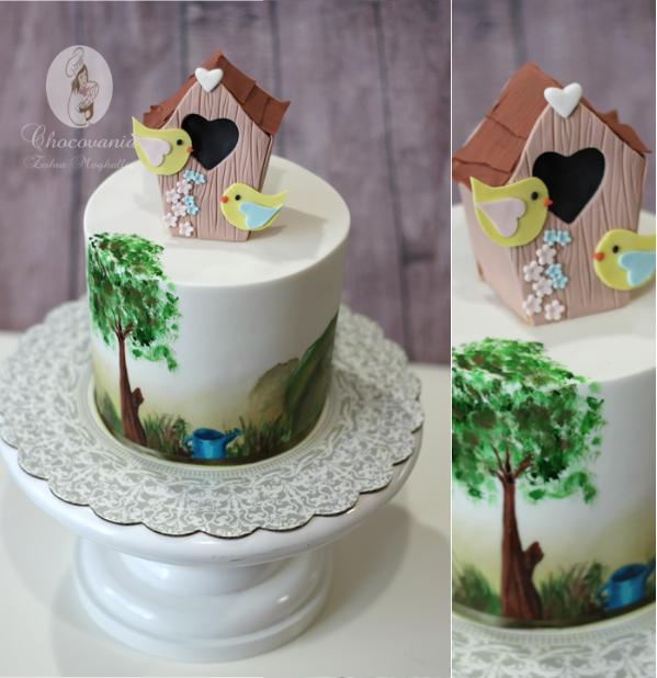 Bird house cake by Craftsy member Zahra Ali