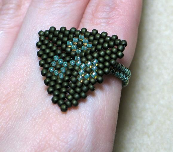 Triangle Beaded Ring