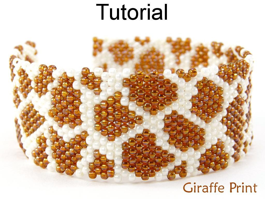Giraffe Brick Stitch Bracelet tutorial