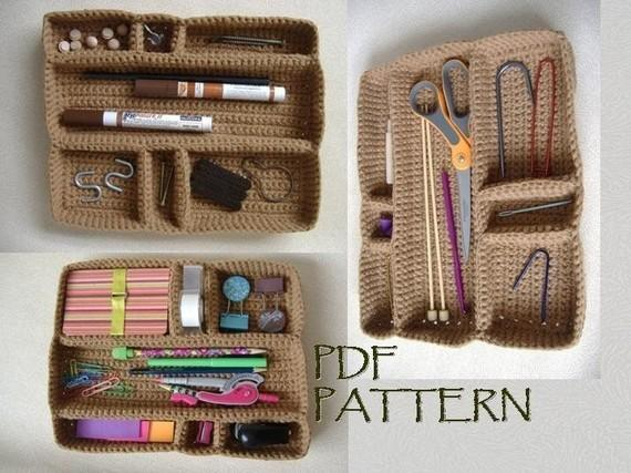 Modular Drawer Organizer Tray crochet pattern