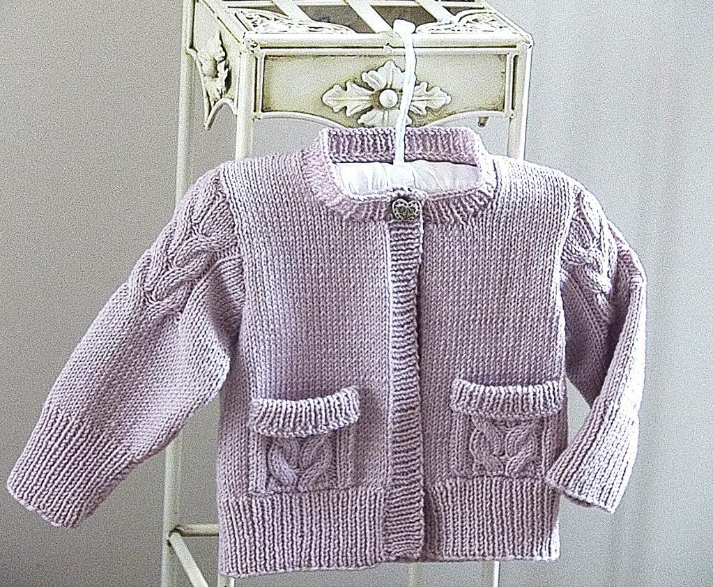 Child's Cardigan with Pockets knitting pattern