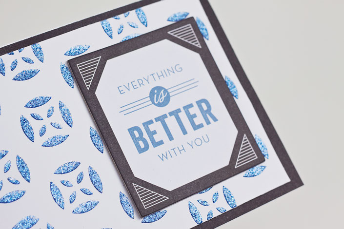 Stenciled Glitter Embossing Paste Card