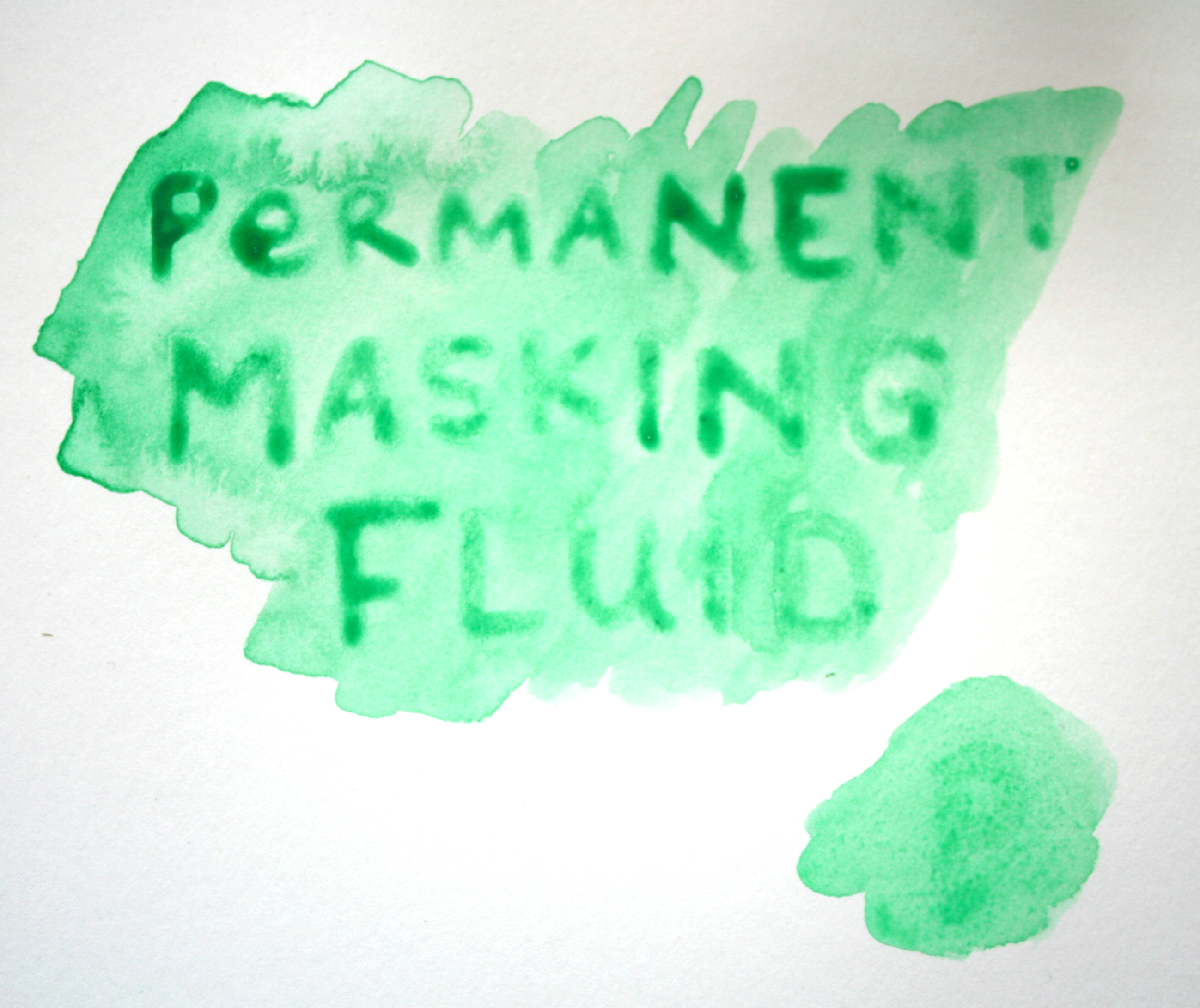 Masking fluid with paint
