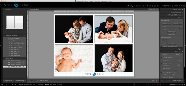 Print Module in Lightroom