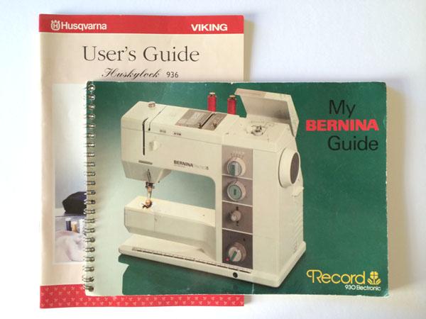 sewing machine manuals