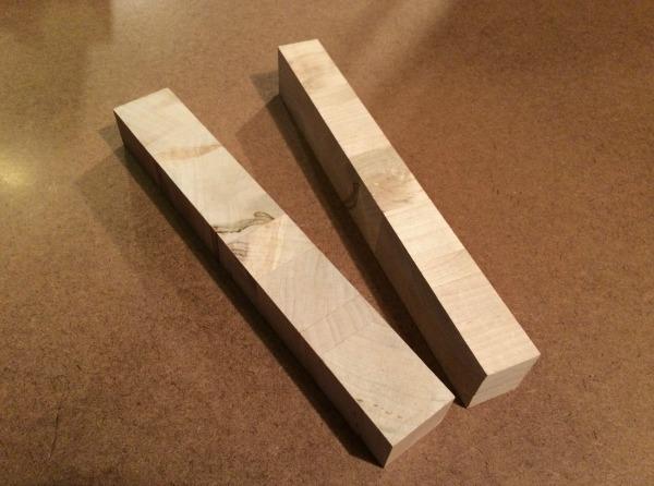 maple crosscut strips