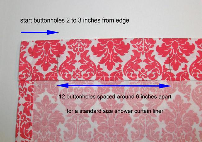 mark the buttonholes