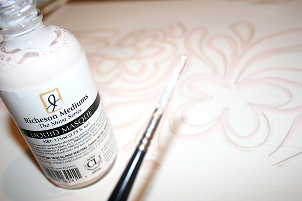 Outline your image with masking fluid