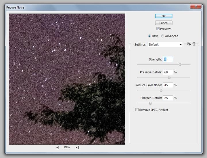 digital noise reduction, post-processing, Adobe Photoshop