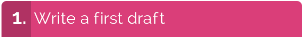 Write a First Draft graphic