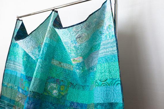 ocean rain ombre quilt