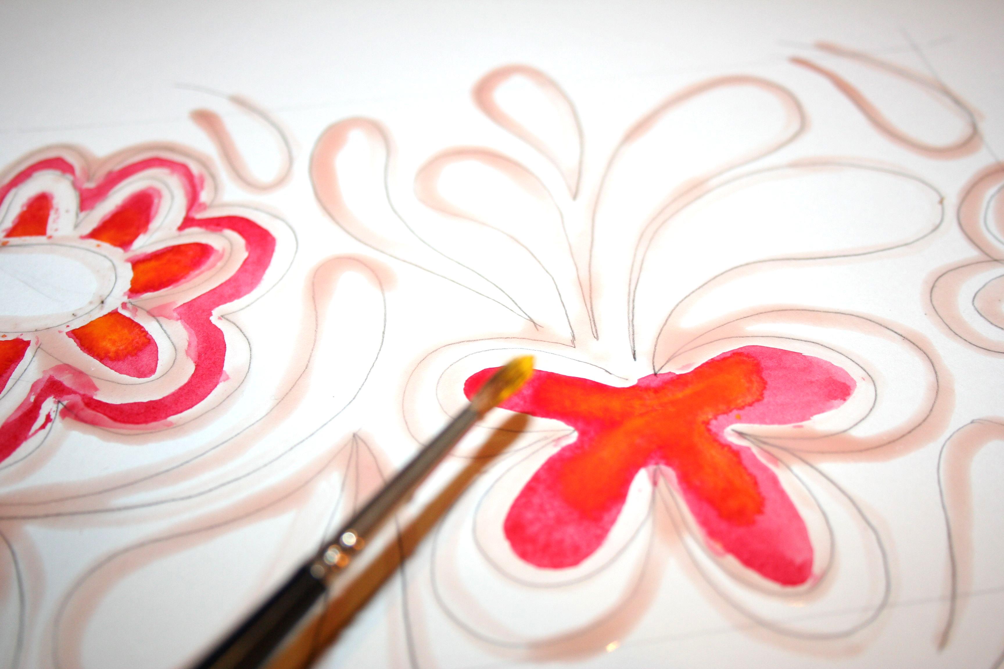Begin to paint your batik