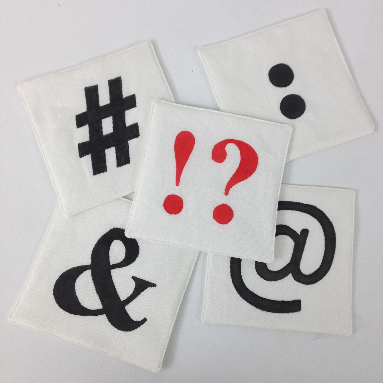Keyboard Symbols Printed on Paper