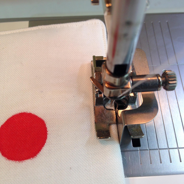 Stitching on a Sewing Machine