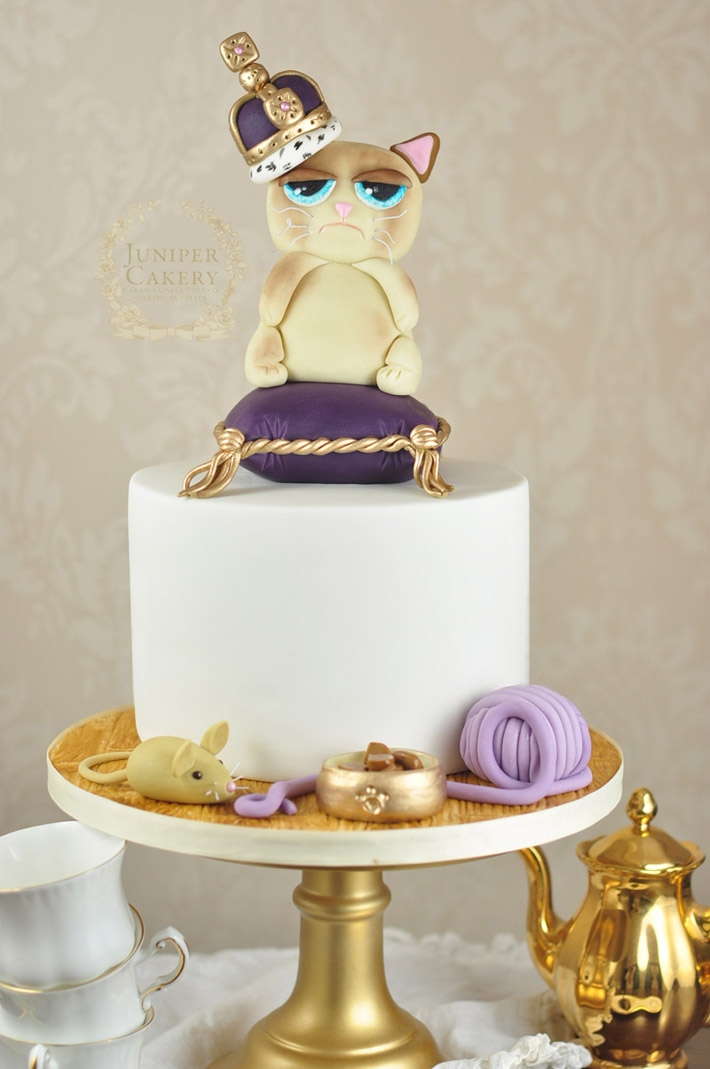 Grumpy cat cake by Juniper Cakery