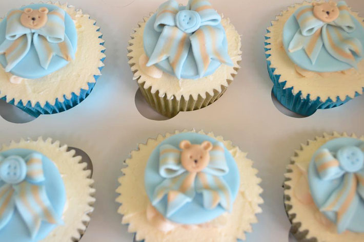 Teddy Christening cupcakes by Bluprint member Roo Q