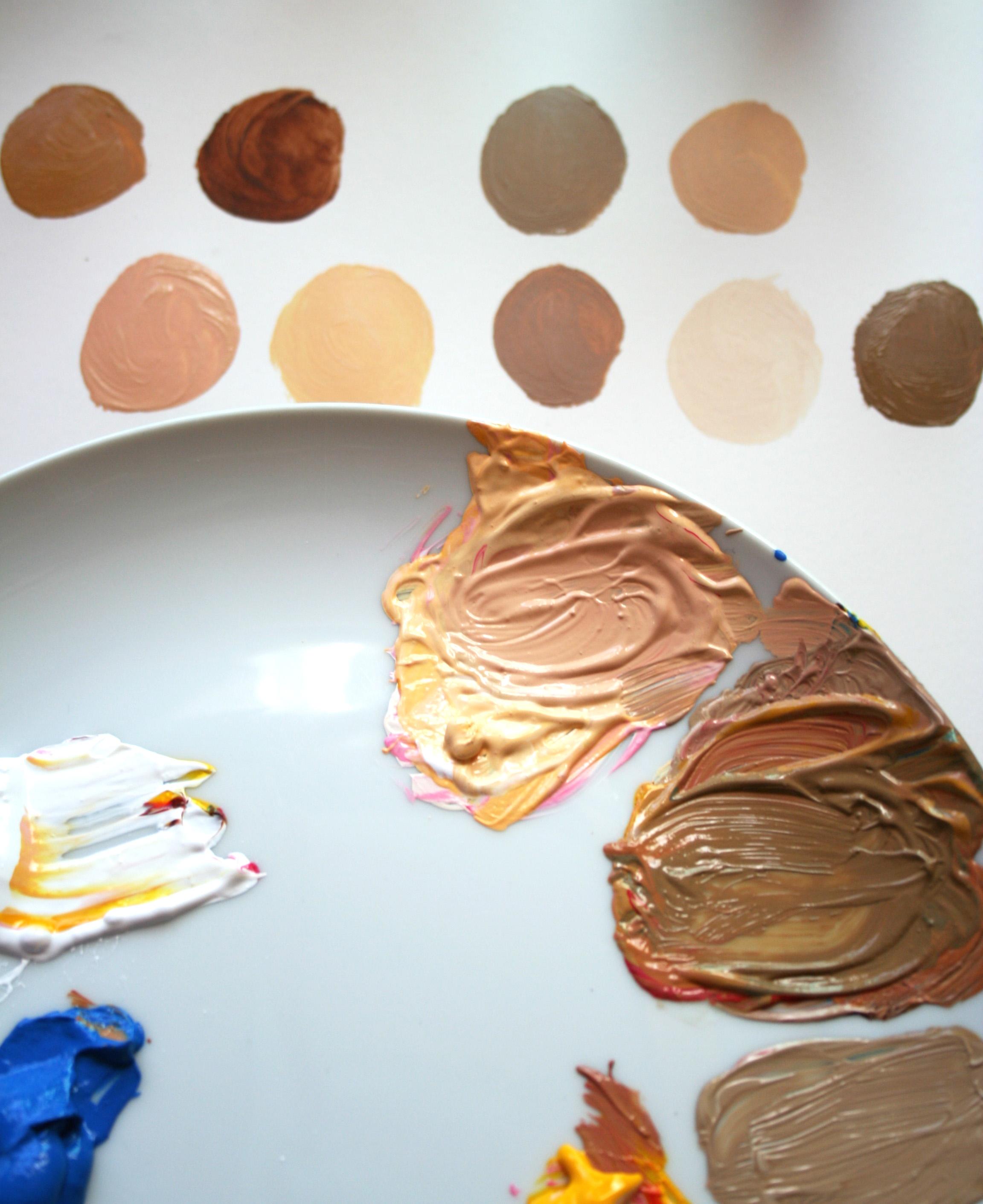 Make a base for skin tones