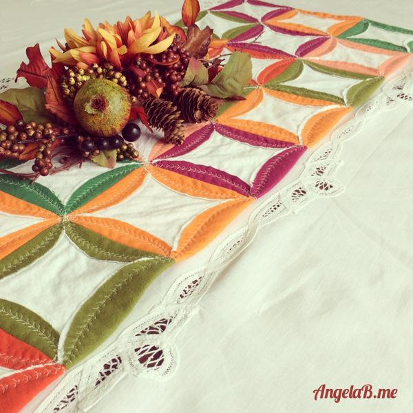 free table runner pattern using flannel