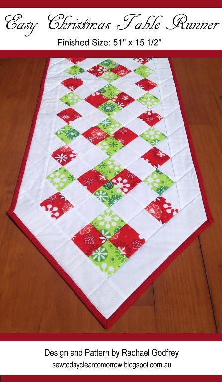 using squares table runner