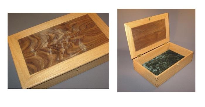 figured walnut box