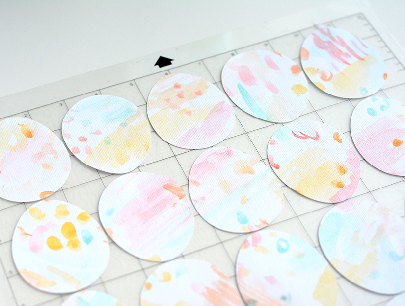 watercolor eggs cut