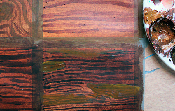 step 2 - loosely defined wood grain