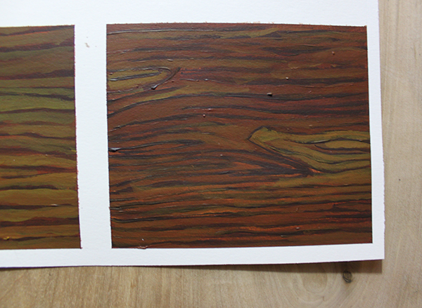 step 3, wood painted texture finished