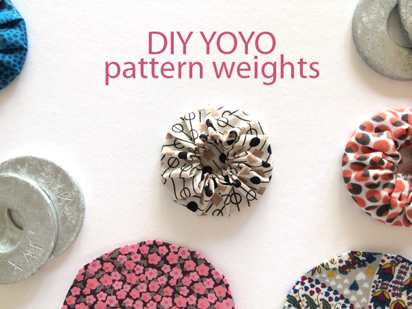 DIY yoyo pattern weights