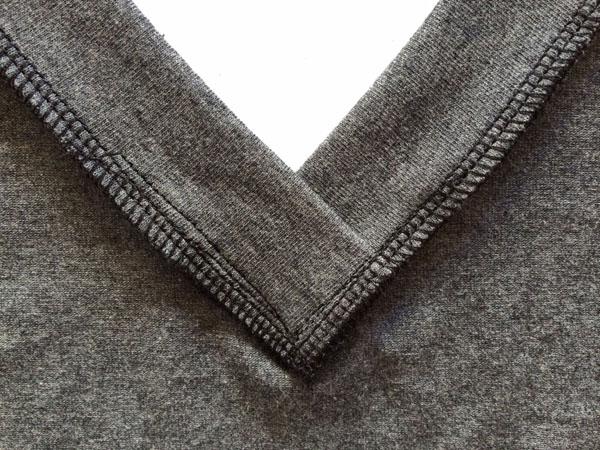 sewn v-neck