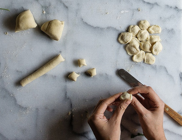 shaping Orecchiette without a pasta machine