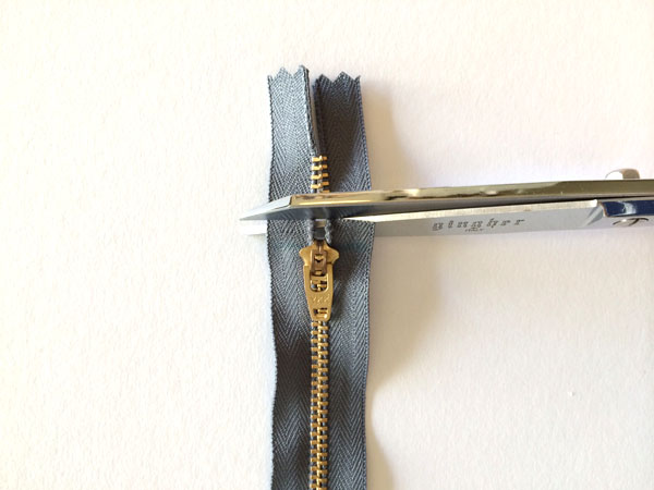 cut zipper