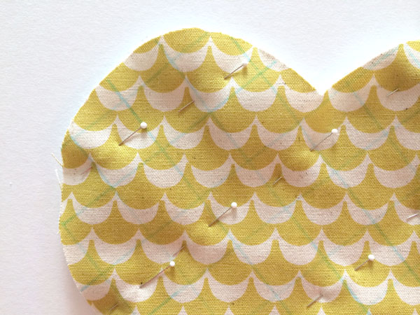quilting pinned