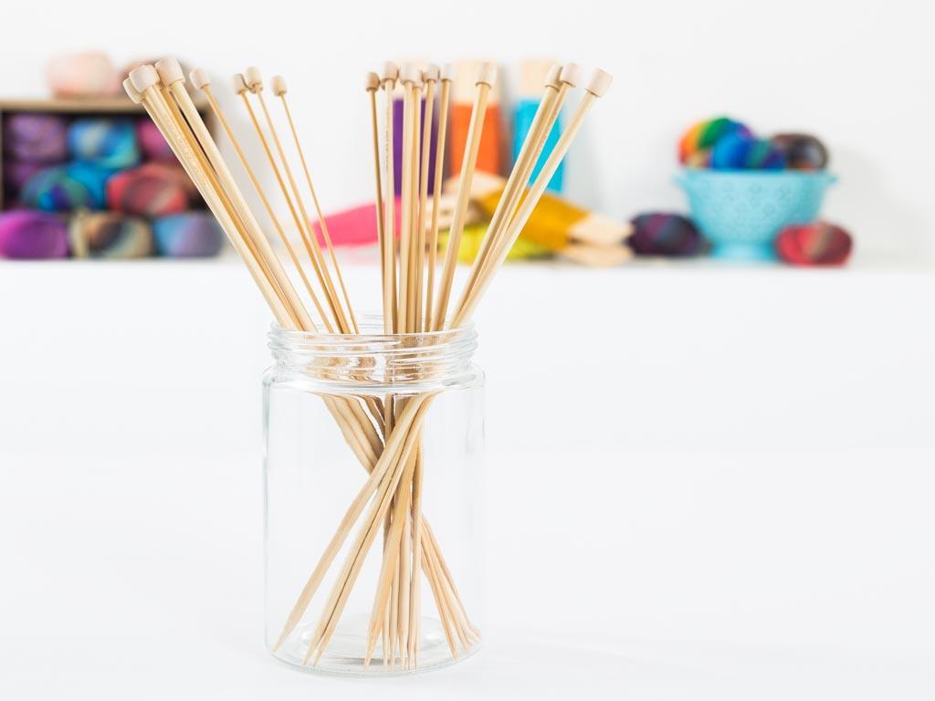 Clover Takumi Bamboo 13in Single Point Knitting Needles