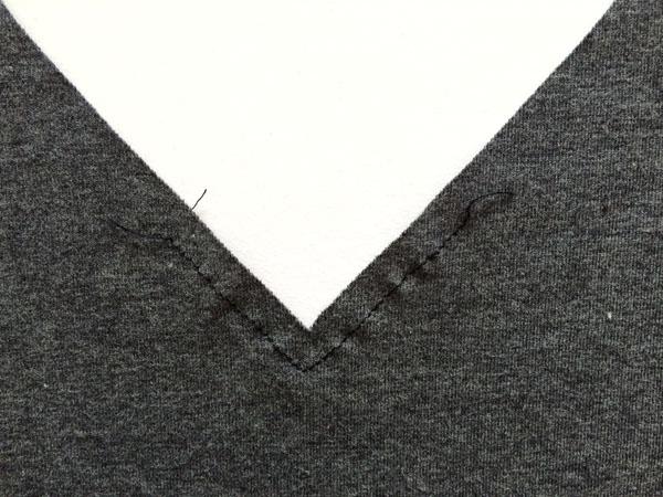 basted neckline