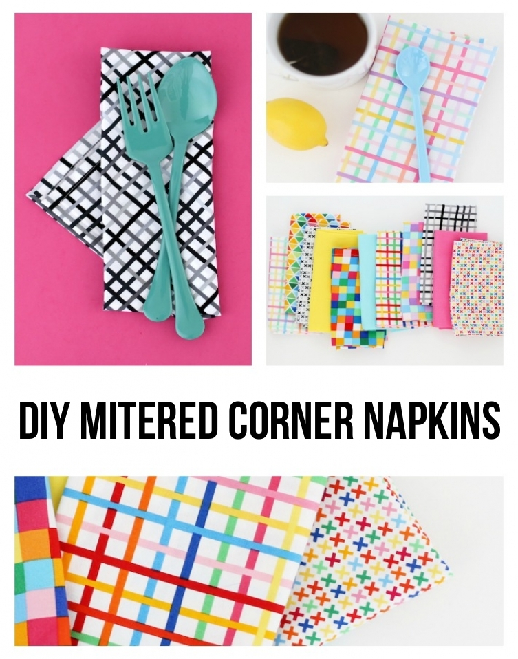 DIY Mitered Corner Napkins Tutorial