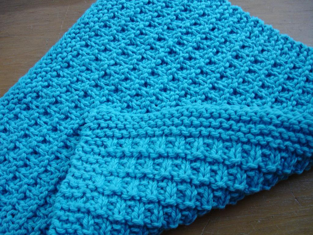Alternating Pickets Facecloth Pattern