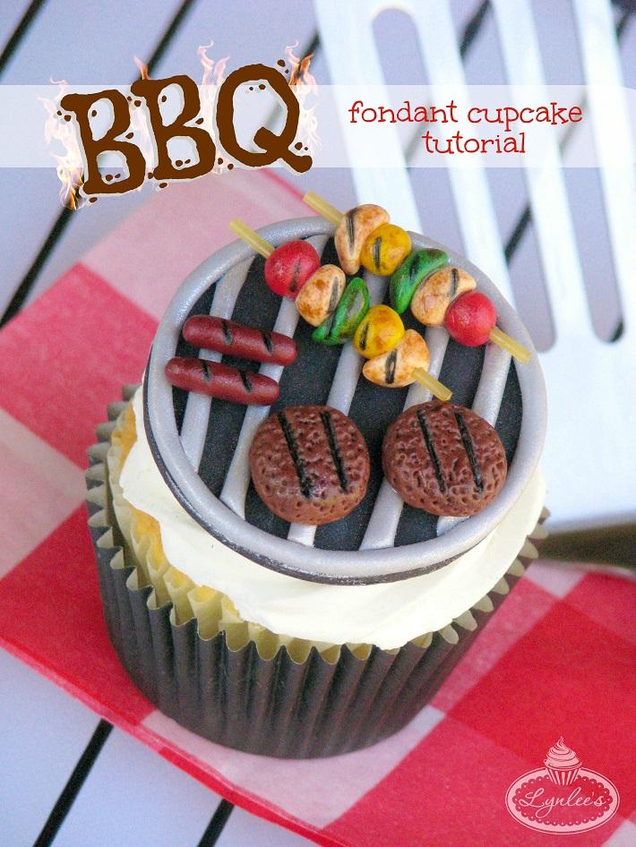 BBQ fondant cupcake tutorial