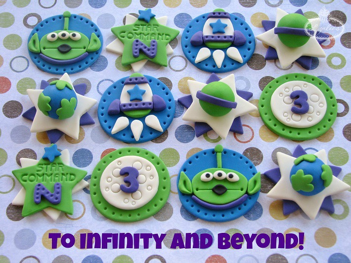 Buzz Lightyear cupcake toppers