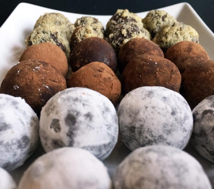 Chocolate truffles Kris Galicia Brown