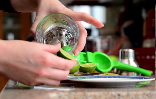Preparing to Salt a Glass