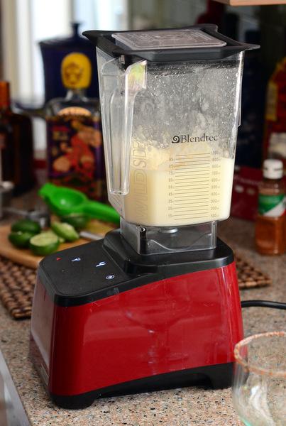 Margarita Ingredients in the Blender