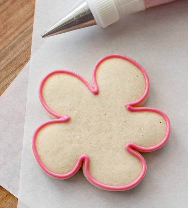 Decorated Flower Cookies for Spring