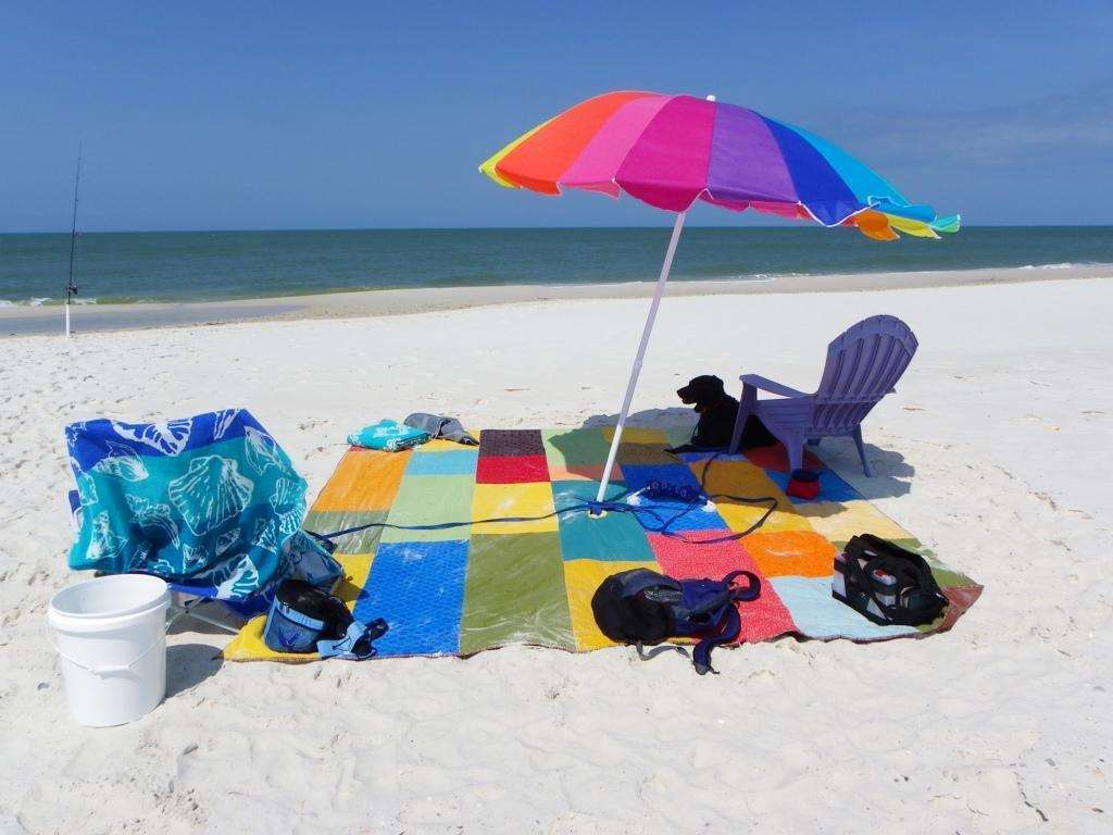 colorful beach quilt