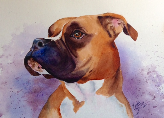 finished dog portrait