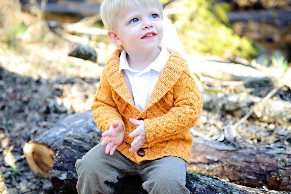 Gramps Cardigan Cotton Knitting Pattern