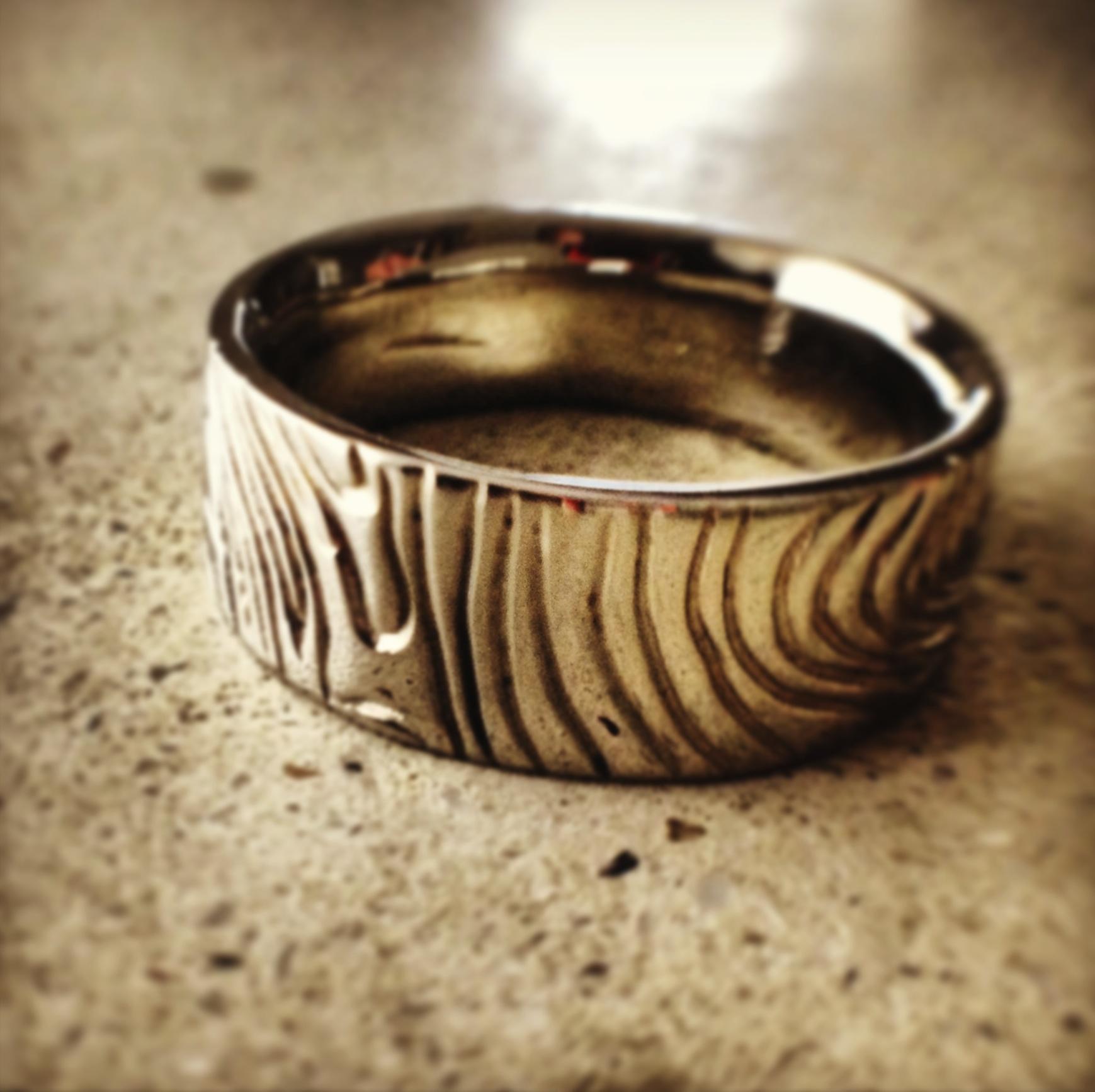 arcatus Jewelry- custom topographic men's band.