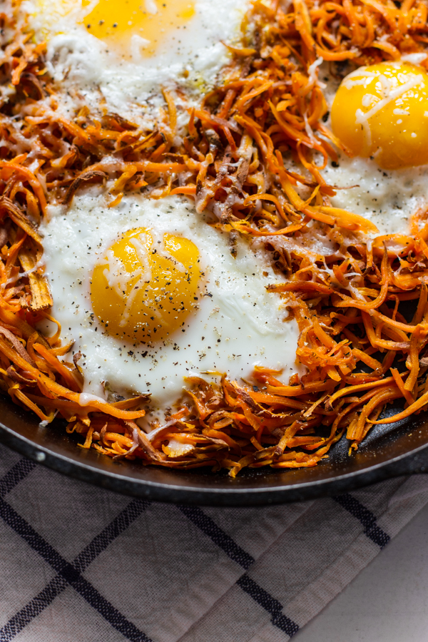 Easy Sweet Potato Egg Skillet